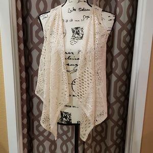 dELiA*S Boho Crochet Tank Top Shawl